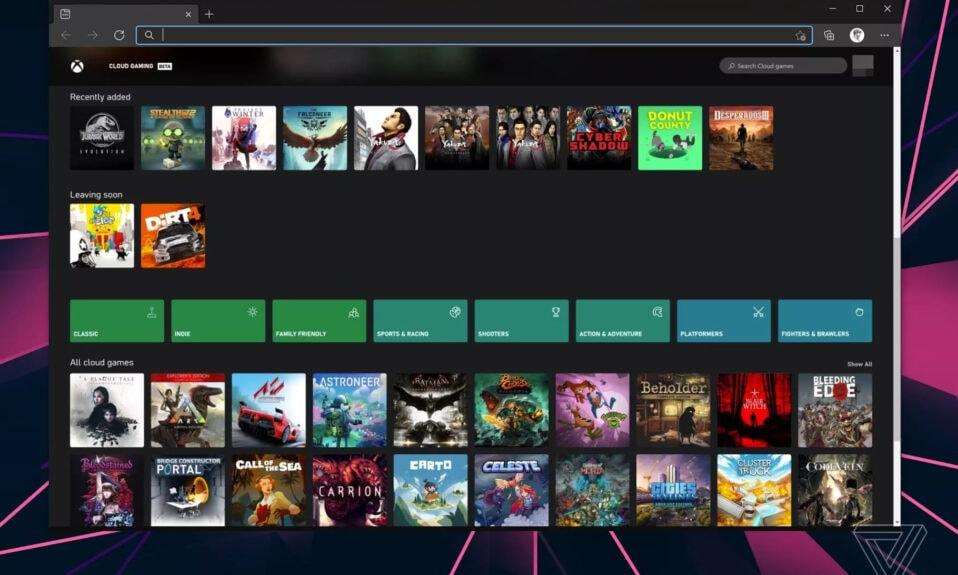 xCloud w przeglądarce
