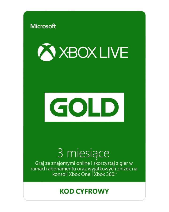 3 miesiące subskrypcji Xbox Live Gold