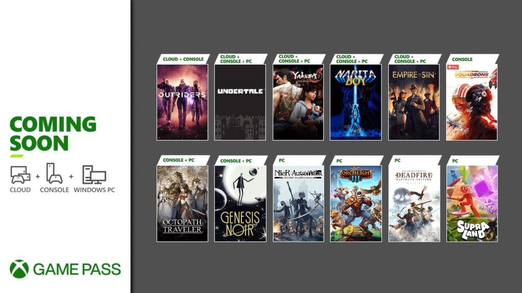 Xbox Game Pass marzec 2021 kolejne gry