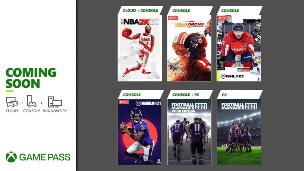 Xbox Game Pass marzec 2021 pierwsze gry