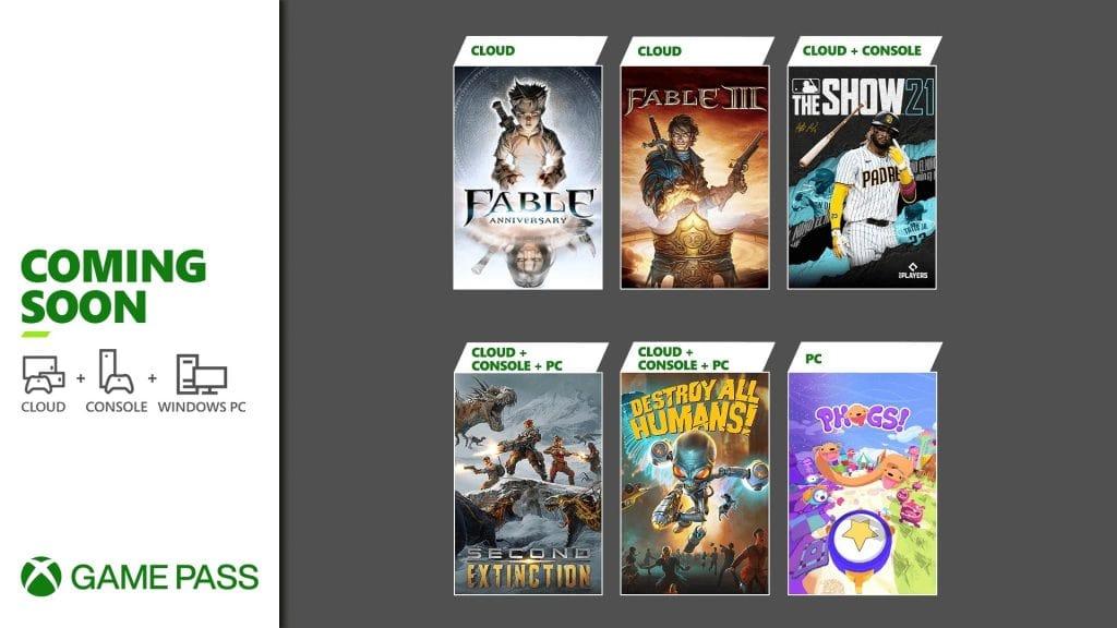 Xbox Game Pass druga połowa kwietnia 2021