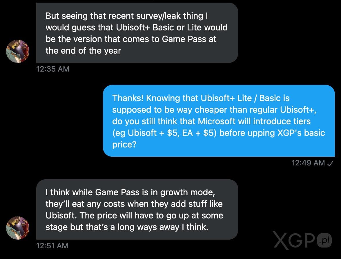 Ubisoft+ Lite lub Basic w Xbox Game Pass