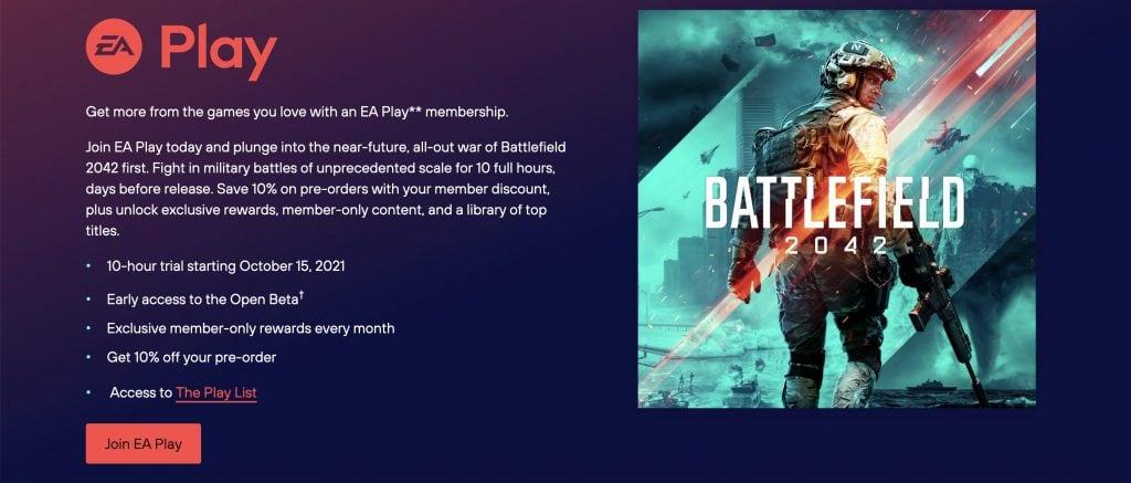 Battlefield 2042 w EA Play