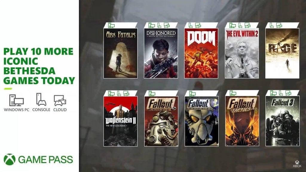 Nowe gry Bethesdy w Xbox Game Pass - Fallout 3, DOOM (2016), The Evil Within 2 i więcej