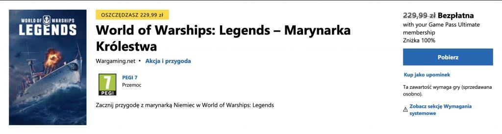 Microsoft Store World of Warships: Legends - Marynarka Królestwa