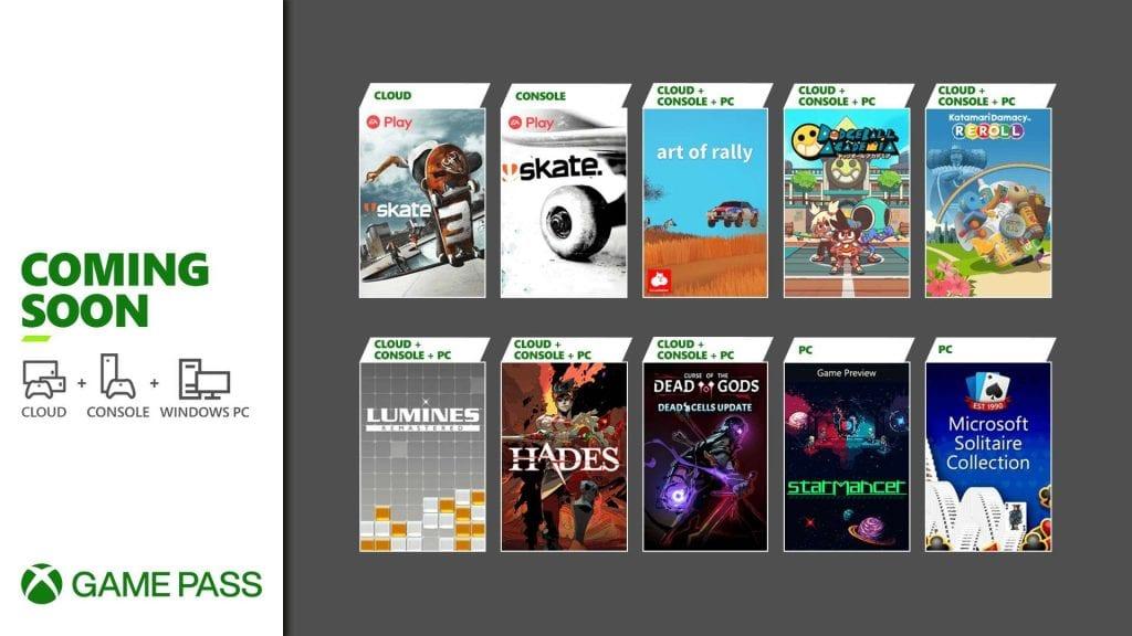 Xbox Game Pass sierpień 2021 pierwsza połowa gier