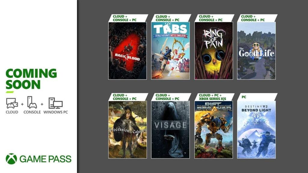 Xbox Game Pass październik 2021 pierwsza porcja gier